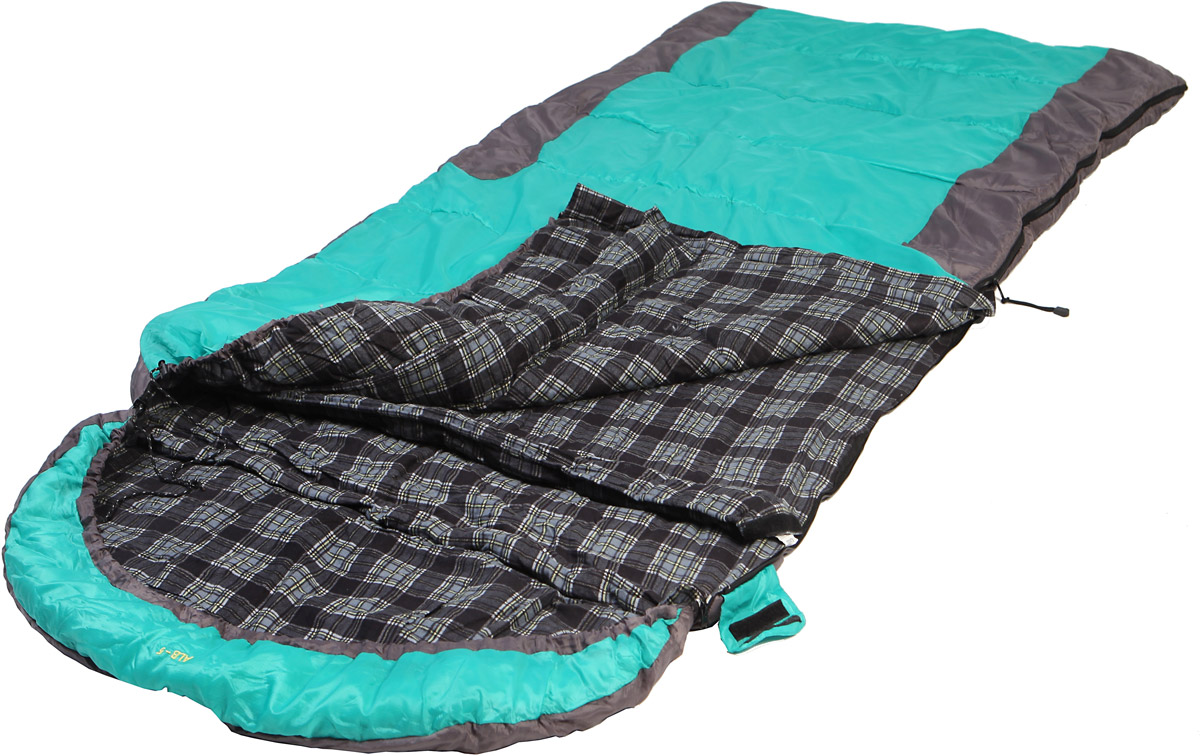 Спальный мешок-одеяло Talberg ALB -5C, правосторонняя молния, цвет: темно-синий