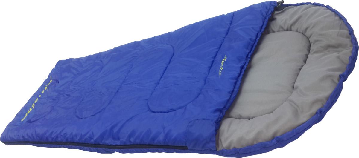 Спальный мешок-одеяло Talberg Camp Blue 0C, левосторонняя молния, цвет: синий