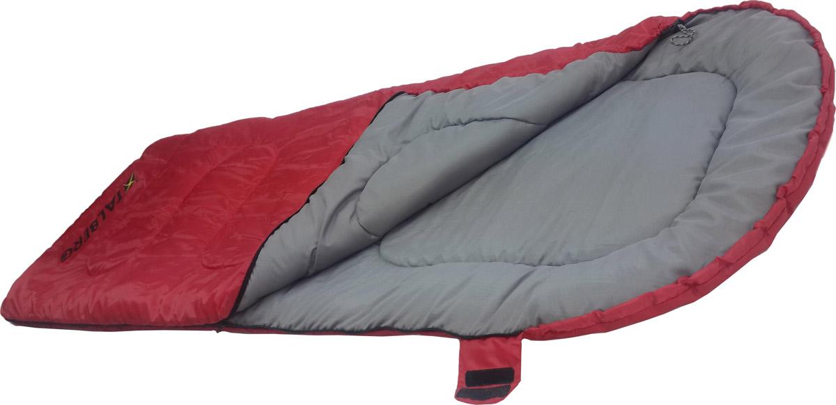 Спальный мешок-одеяло Talberg Camp Red 0C, левосторонняя молния, цвет: красный