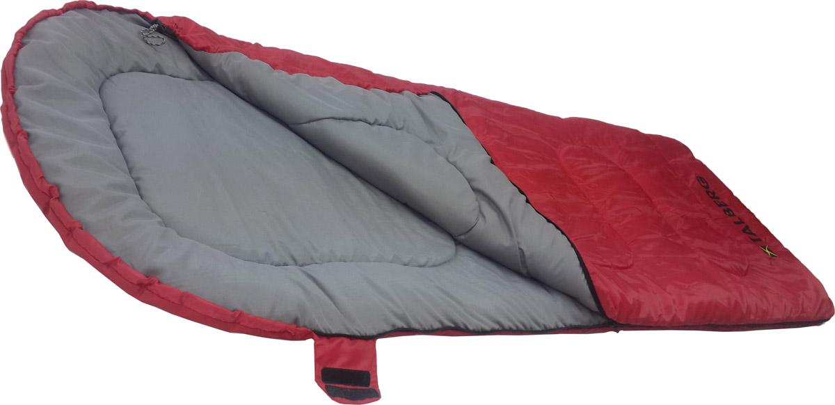 Спальный мешок-одеяло Talberg Camp Red 0C, правосторонняя молния, цвет: красный