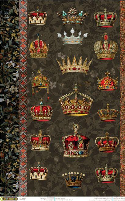 Рисовая бумага для декупажа Craft Premier Короны, формат А3 рисовая бумага для декупажа craft premier этнический узор формат а3