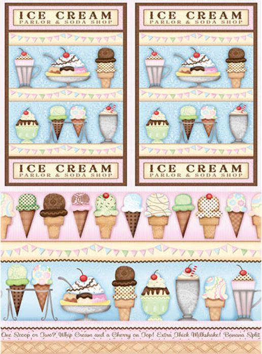 Рисовая бумага для декупажа Cadence - Craft Premier Мороженое, формат А4