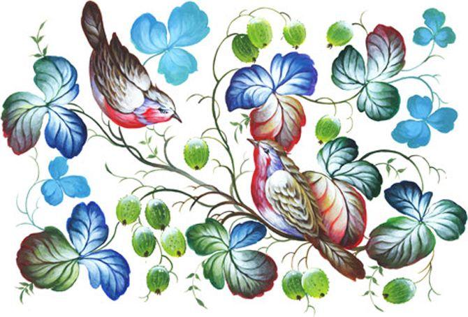 Рисовая бумага для декупажа Cadence - Craft Premier Нежные птички, формат А4