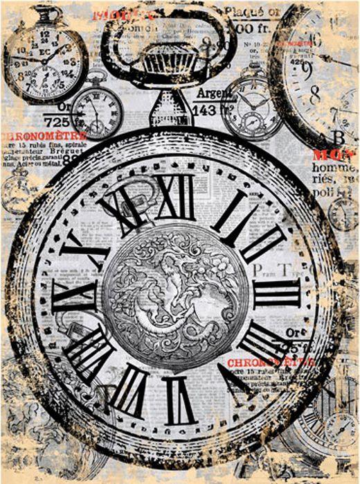 Рисовая бумага для декупажа Cadence - Craft Premier Карманные часы, формат А4