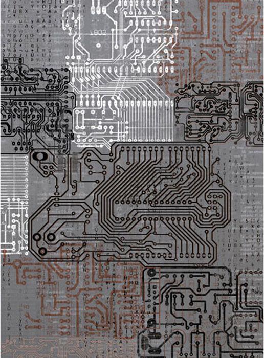 Рисовая бумага для декупажа Craft Premier Микросхемы, формат А4 рисовая бумага для декупажа craft premier а4 25г м бабулины фиалки cp05448 1
