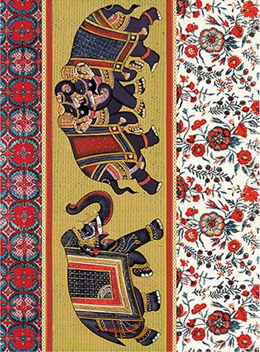 Рисовая бумага для декупажа Craft Premier Индийские слоны, формат А4 рисовая бумага для декупажа craft premier звездное небо формат а4