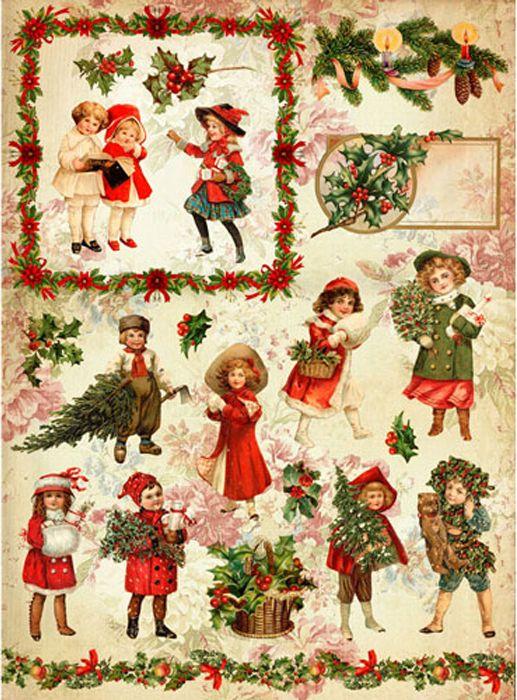 Рисовая бумага для декупажа Craft Premier Рождественская прогулка, формат А4 рисовая бумага для декупажа craft premier звездное небо формат а4