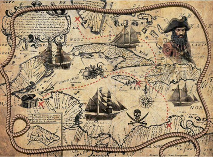 Рисовая бумага для декупажа Craft Premier Пиратская карта, формат А4 рисовая бумага для декупажа craft premier звездное небо формат а4