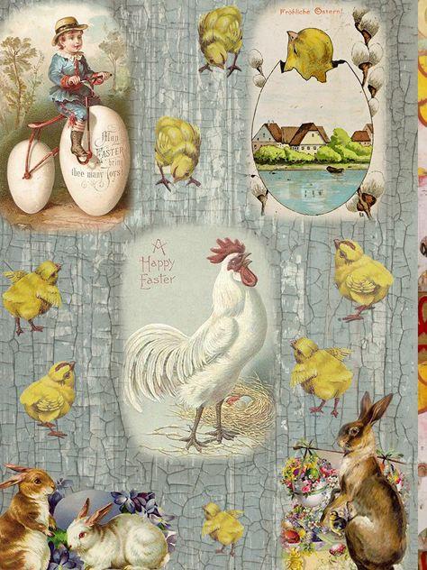 Рисовая бумага для декупажа Craft Premier Кролики и петушки, формат А4 рисовая бумага для декупажа фоновая craft premier a3 20г м паутинка