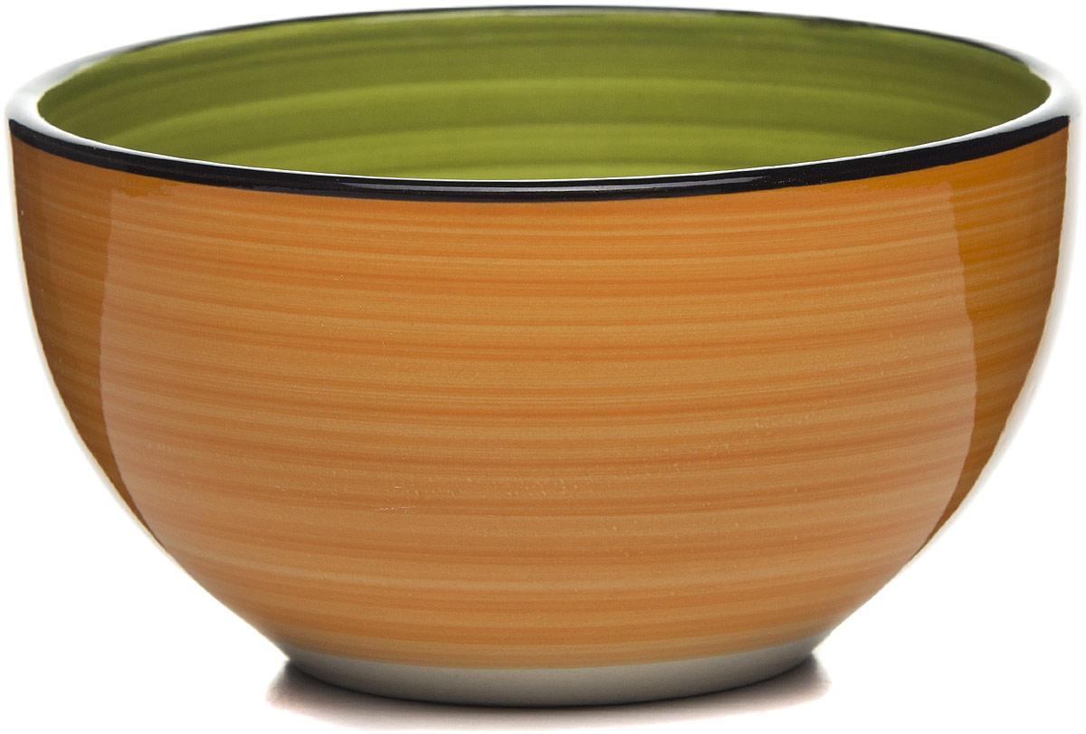Салатник оранжево-зеленый 13,5*13,5*7 см