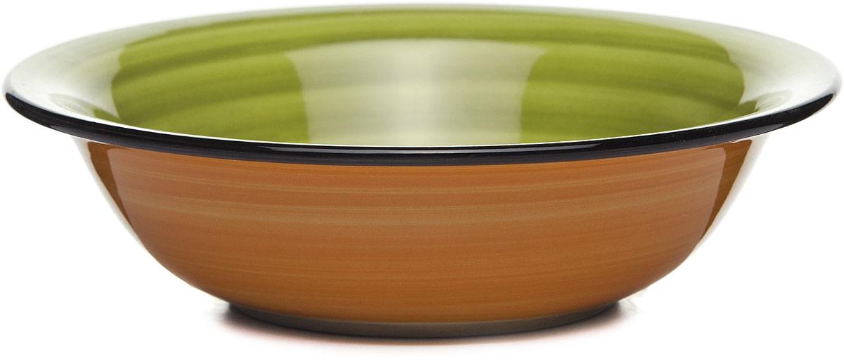 Салатник Gotoff , цвет: оранжевый, зеленый, диаметр 18 см lefard салатник lotte 18 см