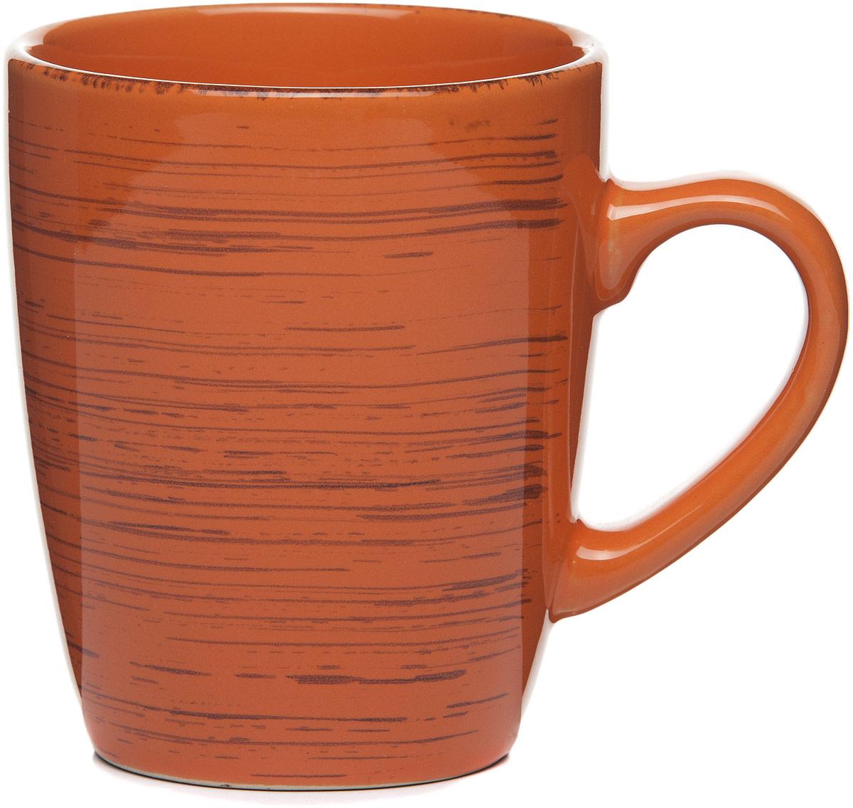 Кружка столовая Gotoff , цвет: оранжевый, 340 мл кружка wing star цвет оранжевый белый 350 мл
