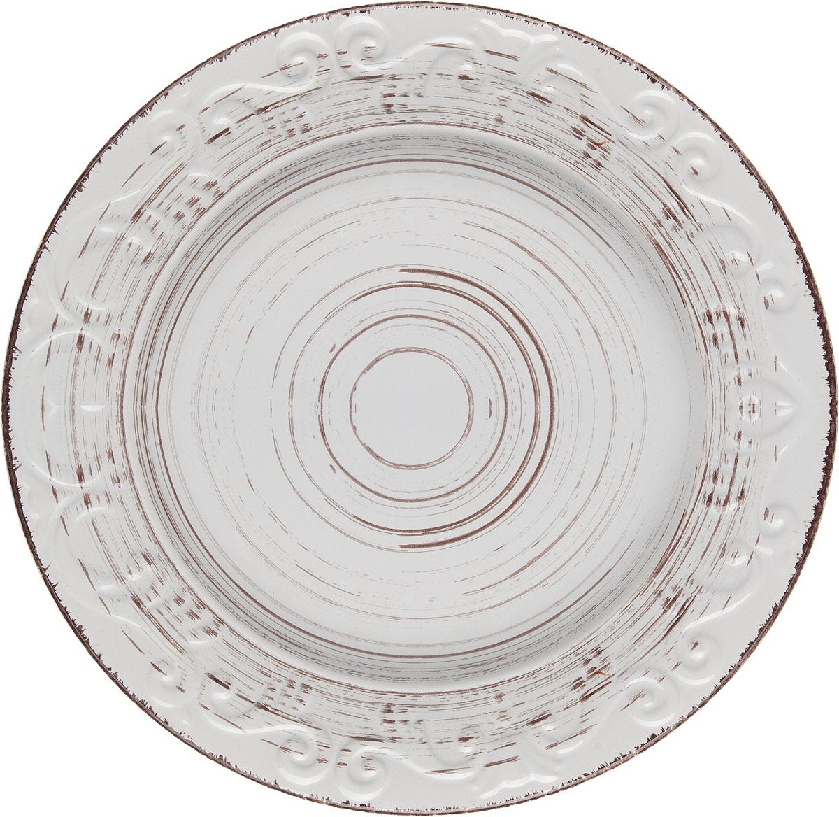 Тарелка белая 26,5*26,5*2,5 см