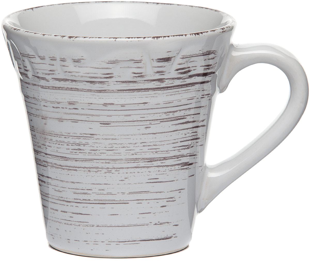 Кружка столовая Gotoff , цвет: белый, 360 мл кружка винтаж 360 мл miolla кружка винтаж 360 мл