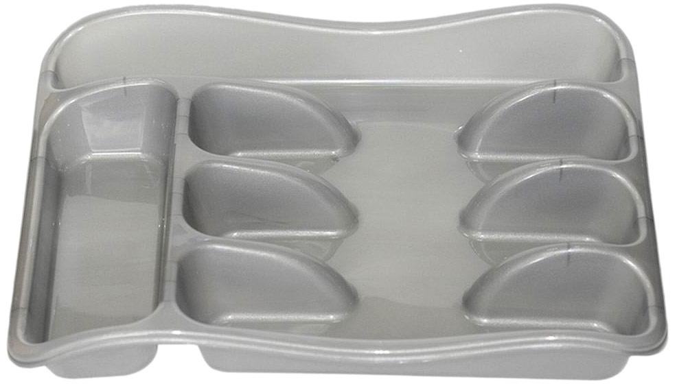 """Лоток для столовых приборов """"Violet"""" изготовлен из высококачественного пищевого пластика. Лоток поможет содержать ящик, где хранятся ложки и вилки, в полном порядке. Прочный пластик легко моется и прослужит долгое время."""