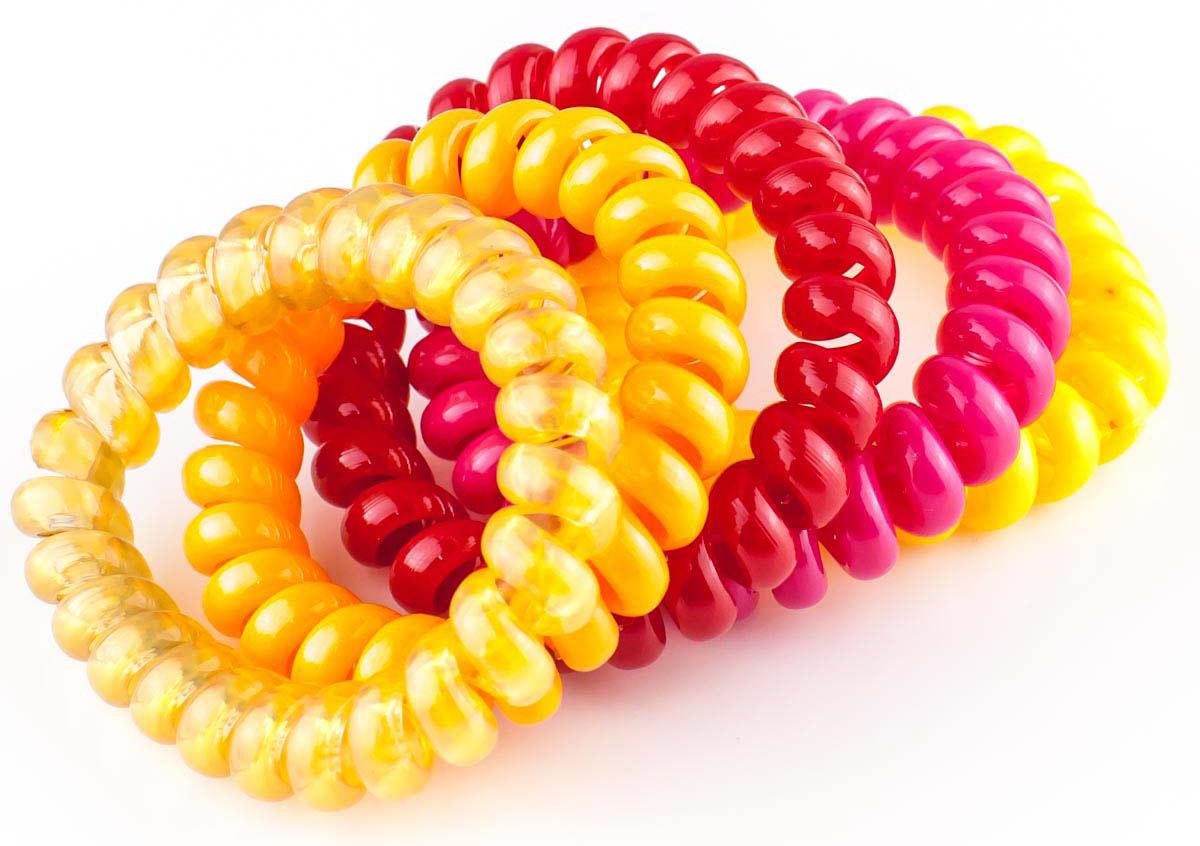 Резинка для волос Мастерская Крутовых, цвет: разноцветный, 5 шт. РПВ-306 маша и медведь резинка для волос пружинки в цветовом дизайне 5 шт