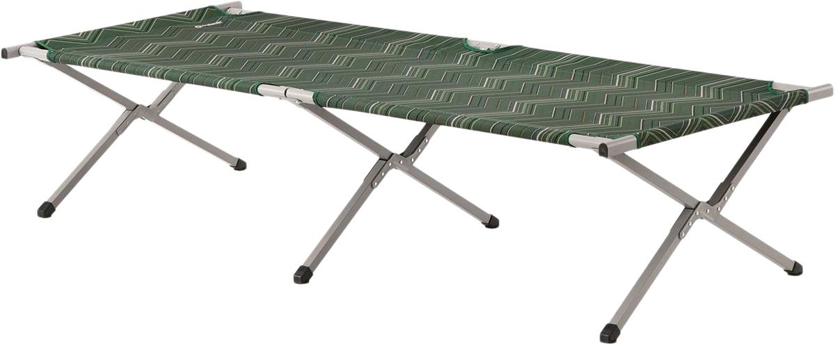 Просторная складная кровать с малым для таких размеров весом, достигнутым за счет каркаса из алюминия и стали.Устанавливается и складывается за секунды.Сборка не требуется.Легкость и удобство при транспортировке.Сумка для хранения и перевозки.