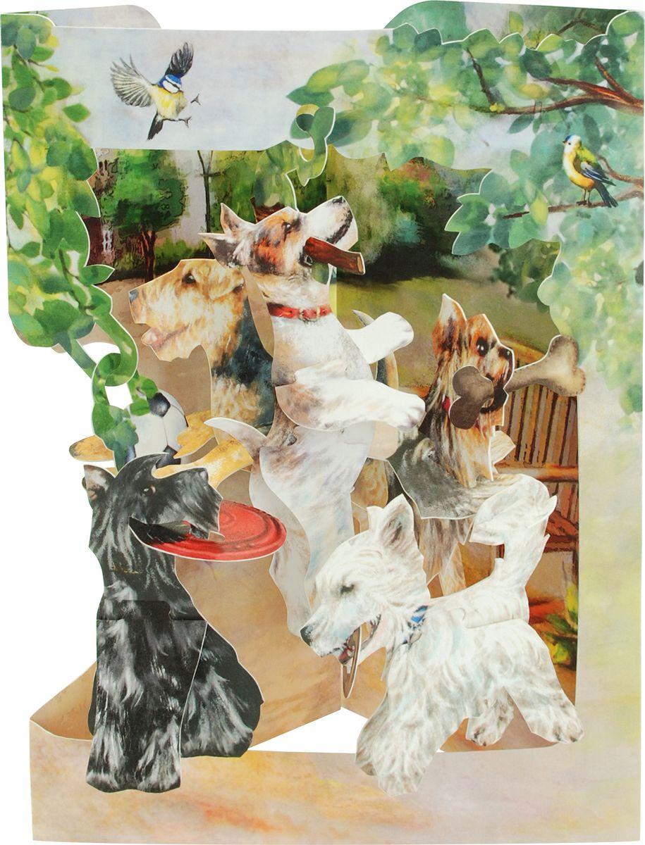 Объемная открытка Santoro Резвящиеся терьеры объемная открытка santoro воздушные змеи