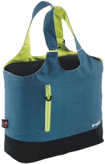 """Модель Outwell """"Puffin Petrol"""" в форме сумки для шоппинга со внешним карманом на молниях. Идеально подходит для пикника, барбекю, фестиваля, пляжа и даже похода в супермаркет. Теплоизолирующий слой можно снять, превратив охлаждающую сумку в обычную сумку. В комплект входит вкладыш для гигиеничности внутреннего пространства."""