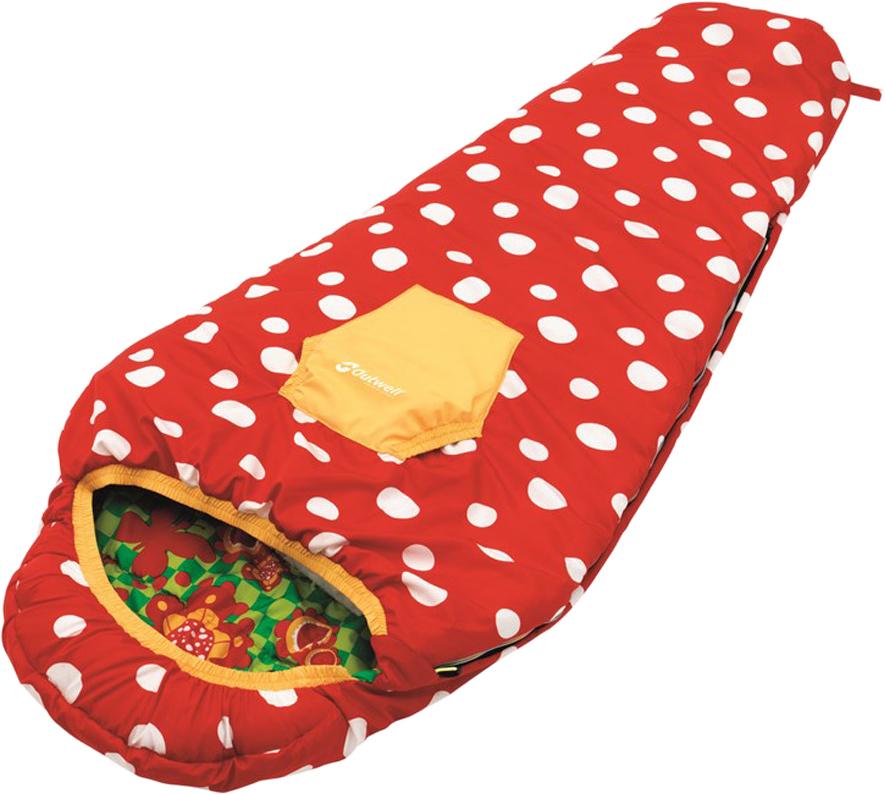 Спальный мешок-кокон детский Outwell Butterfly Girl Sleeping Bag, 165 х 70 х 40 см naturehike 2300mm x 900mm l sleeping bag outdoor camping type envelope winter warm spliced double sleeping bag