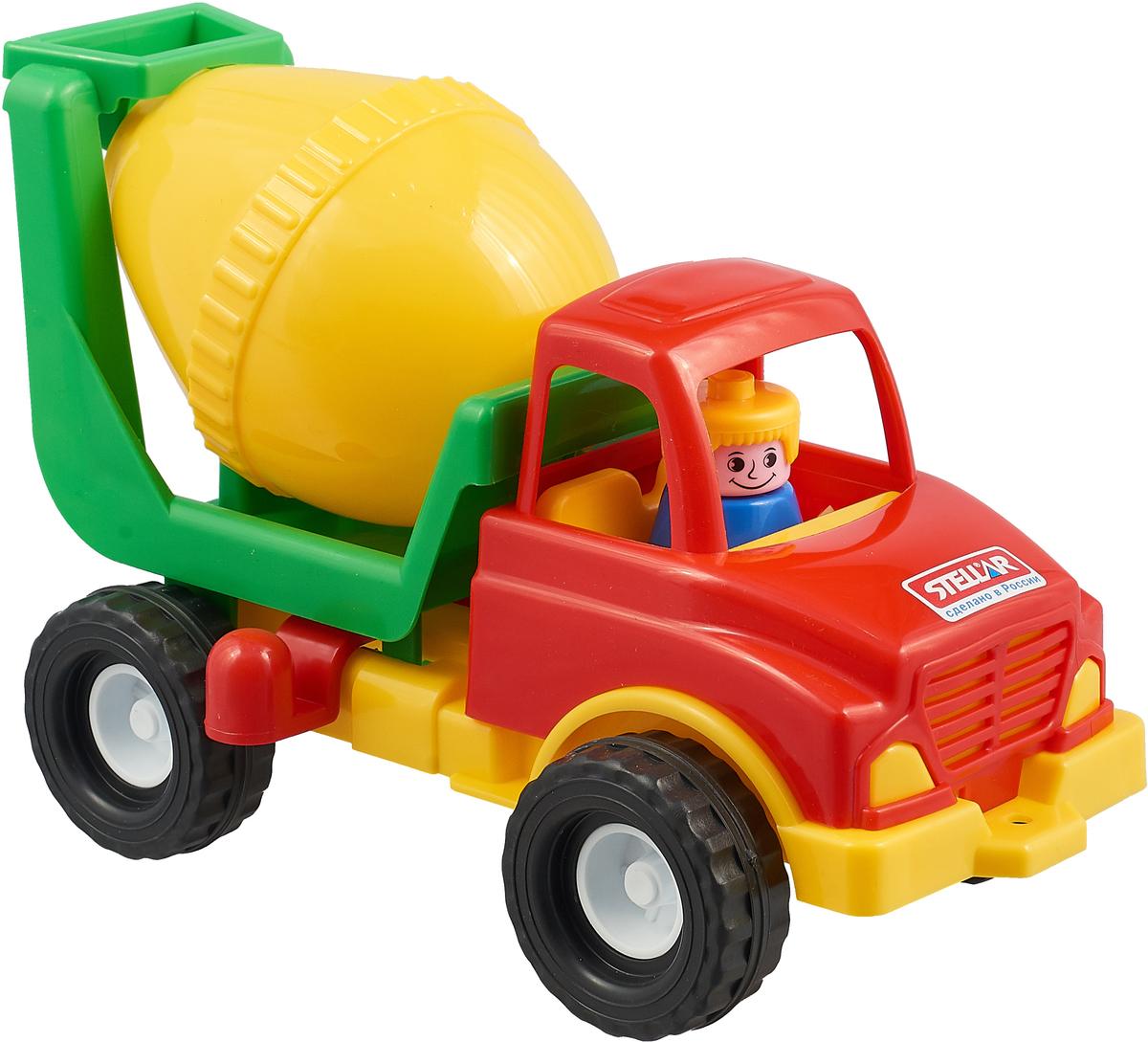 Stellar Игрушка для песочницы Бетономешалка красный,желтый,зеленый развивающая игрушка stellar веселый молоточек цвет зеленый желтый голубой