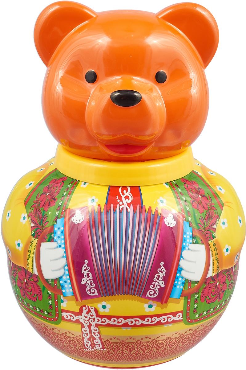 Stellar Неваляшка Бурый медведь Потапыч 01719, оранжевый стеллар 1718 неваляшка большая бурый медведь потапыч р73280