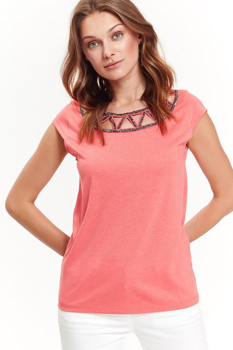 Блузка женская Top Secret, цвет: розовый. SBK2314RO. Размер 40 (48)