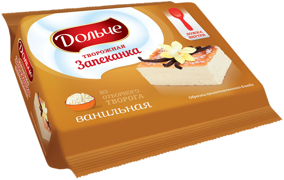 President Дольче Запеканка творожная ванильная 5,5%, 165 г