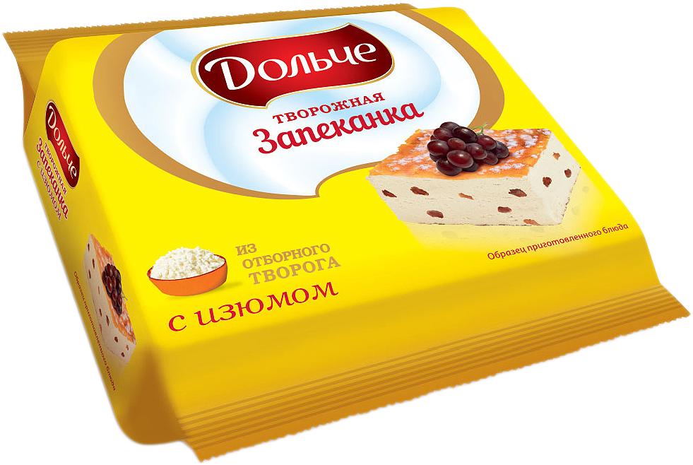 President Дольче Запеканка творожная с изюмом 5,5%, 350 г valio йогурт печеное яблоко с яблоком и корицей 0 4