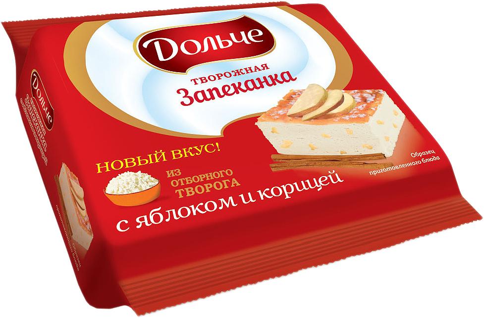 President Дольче Запеканка творожная с яблоком и корицей 5,5%, 350 г пастилки дыши с медом и корицей