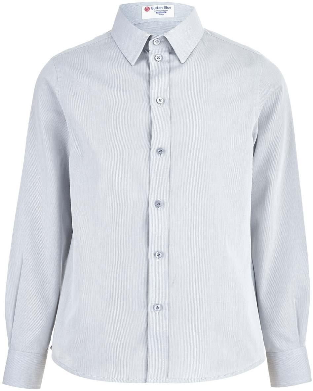 Рубашка для мальчика Button Blue, цвет: серый. 218BBBS23010100. Размер 140