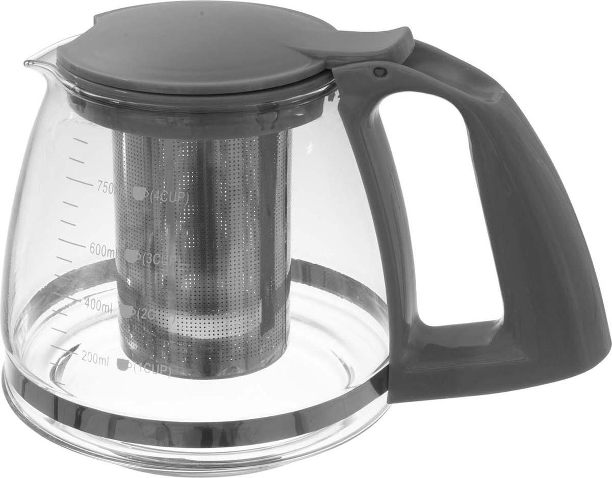 Чайник заварочный Atmosphere, цвет: серый, 750 мл чайник заварочный 750 мл mayer