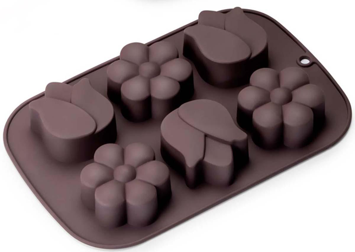 Форма для выпечки маффинов выполнена из жаропрочного силикона. Идеально подходит для выпечки маффинов и капкейков. Можно мыть в посудомоечной машине.