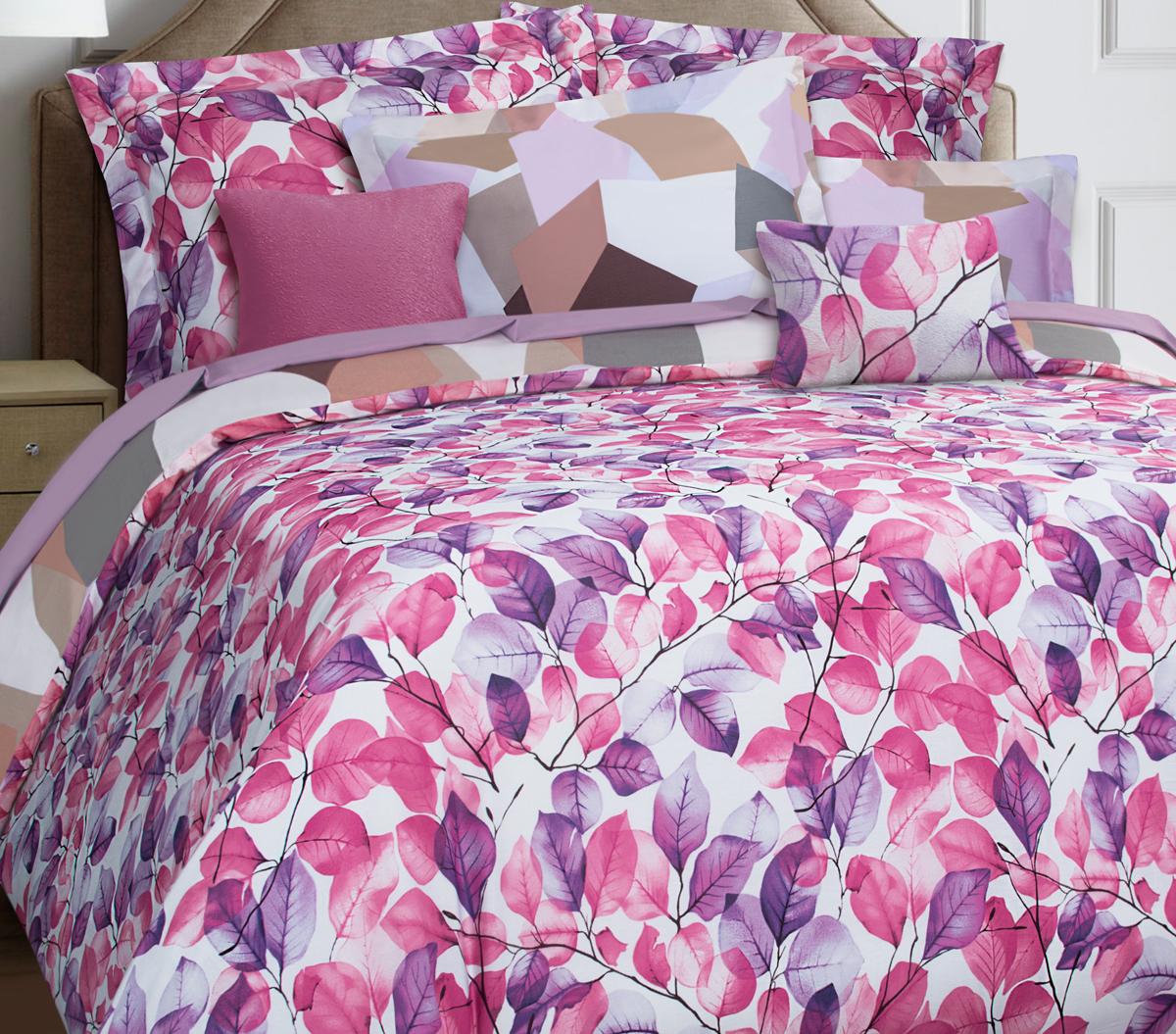 Комплект белья Mona Liza Premium Atelier Leaves, евро, наволочки 50х70, 70х70. 5049-0010