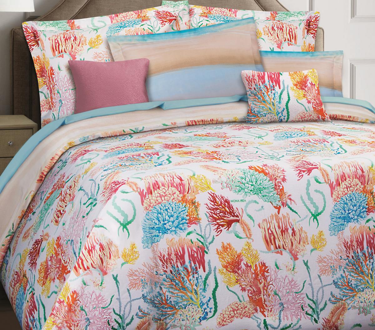 Комплект белья Mona Liza Premium Atelier Sirena, 2-спальный, наволочки 50х70, 70х70. 5044-0016 цена