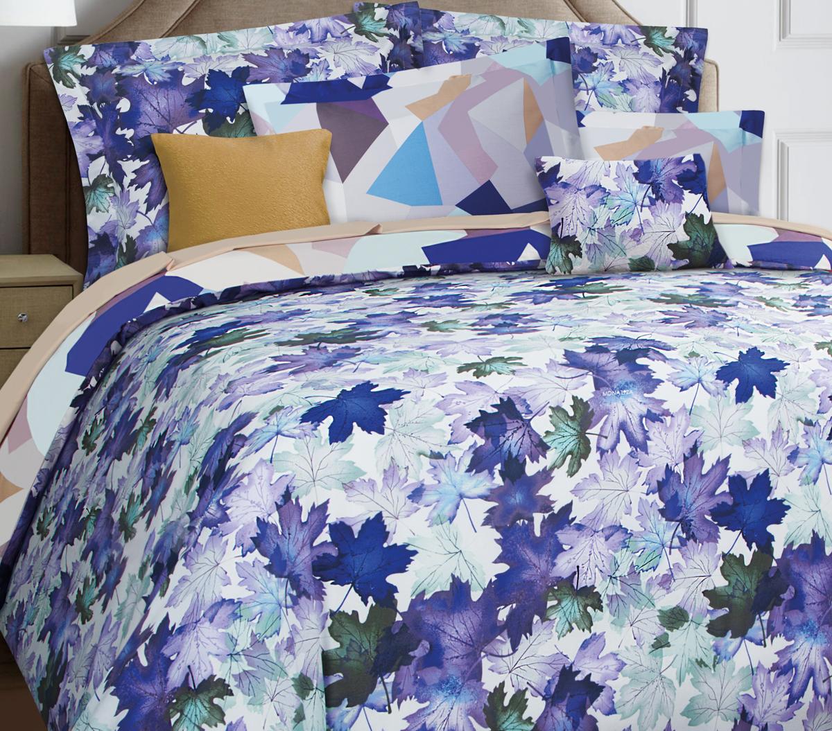Комплект белья Mona Liza Premium Atelier Leaves, 2-спальный, наволочки 50х70, 70х70. 5044-0011