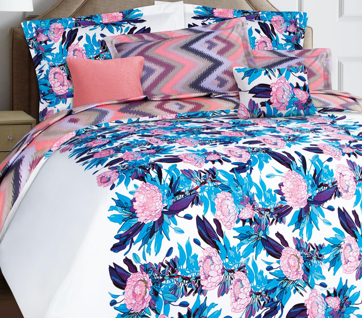 Комплект белья Mona Liza Premium Atelier Ikat, 1,5-спальный, наволочки 70x70. 5047-008 комплект белья mona liza stone topaz 1 5 спальный наволочки 70x70 551114 63