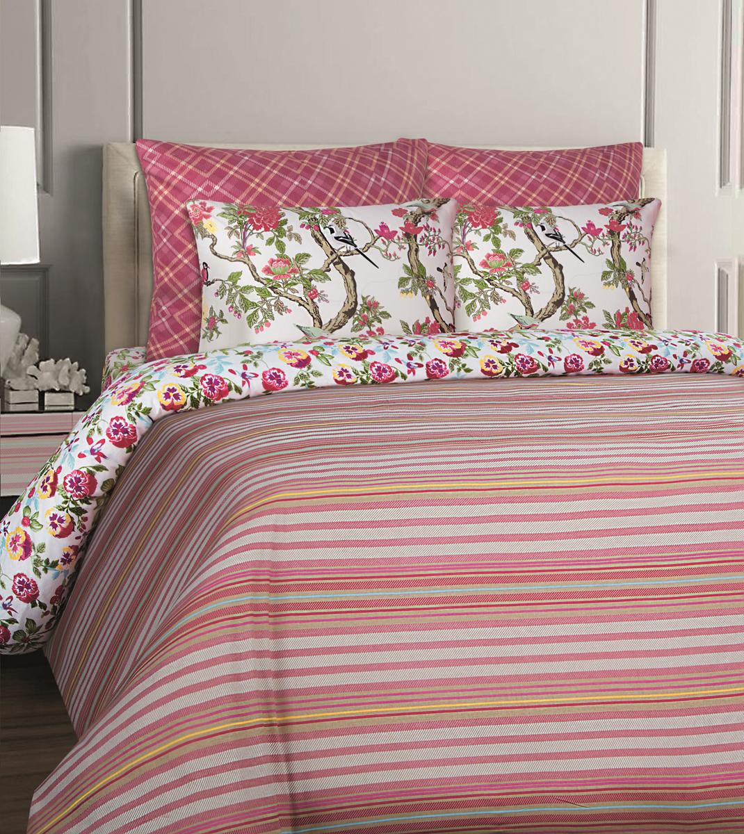 Комплект белья Mona Liza British Bristol, 1,5-спальный, наволочки 70x70. 551114-66 комплект белья mona liza stone topaz 1 5 спальный наволочки 70x70 551114 63