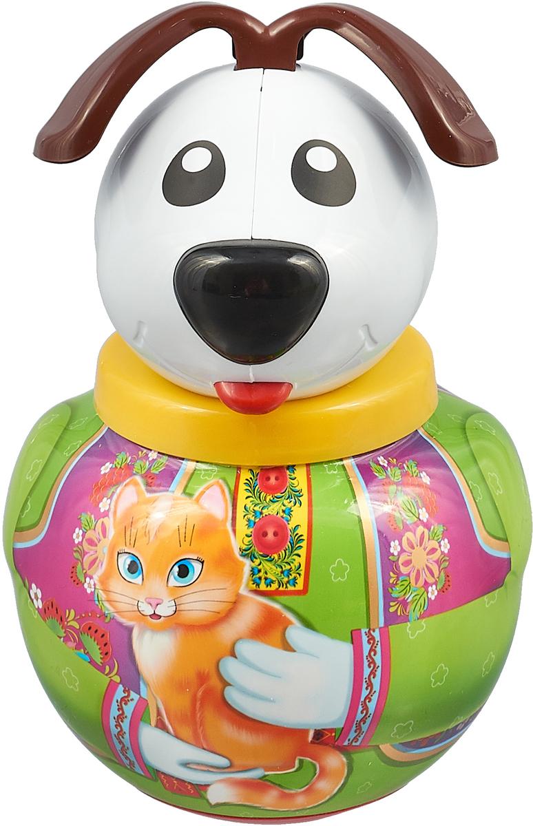 Stellar Неваляшка Собачка Дружок с кошечкой игрушка stellar игрушка покатушка собачка 01394