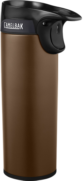 """Вакуумная термокружка Camelbak """"Forge"""" выполнена из нержавеющей стали, без BPA, BPS, BPF. Не впитывает запахи. Сохраняет горячую температуру более 6 часов. Фиксатор кнопки «Закрыть-Открыть» - удобно пить одной рукой. Герметичная уплотненная крышка предотвращает протечки. Уникальный клапан – мгновенное закрытие - в случае падения кружка с горячим напитком долетает до ваших коленей уже закрытая! Незаменимо за рулем! Безопасно для детей!"""