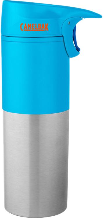 """Термостакан Camelbak """"Forge"""" выполнен из нержавеющей стали, без BPA, BPS, BPF. Не впитывает запахи. Фиксатор кнопки «Закрыть-Открыть» - удобно пить одной рукой. Герметичная уплотненная крышка предотвращает протечки. Уникальный клапан – мгновенное закрытие - в случае падения кружка с горячим напитком долетает до ваших коленей уже закрытая! Незаменимо за рулем! Идеальная вещь для любимого чая после фитнес-зала:)"""