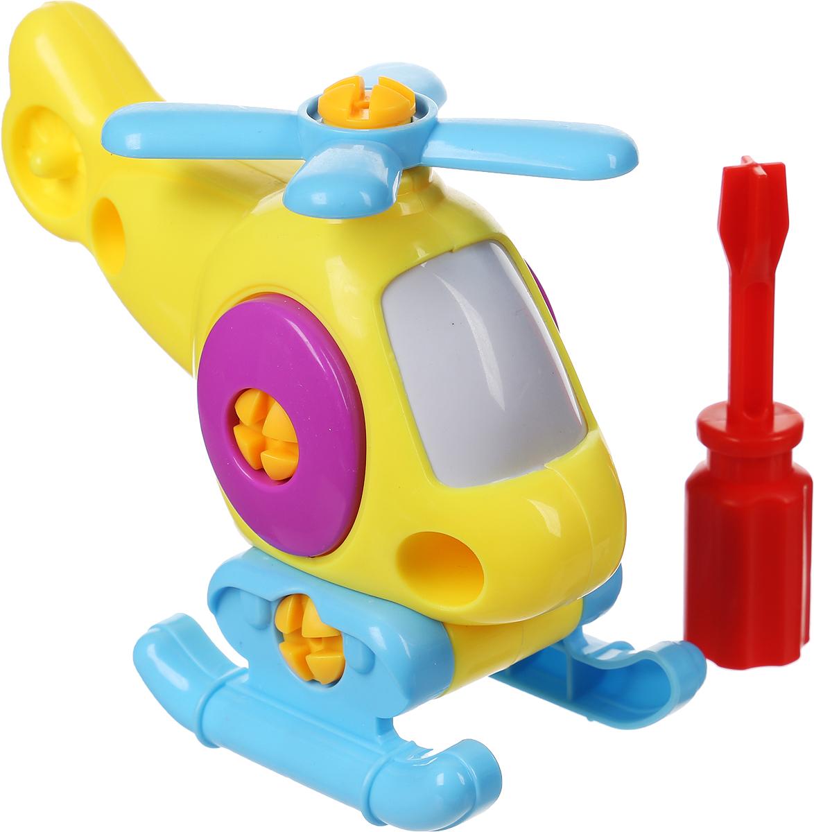 Abtoys Конструктор Вертолет с отверткой цвет желтый