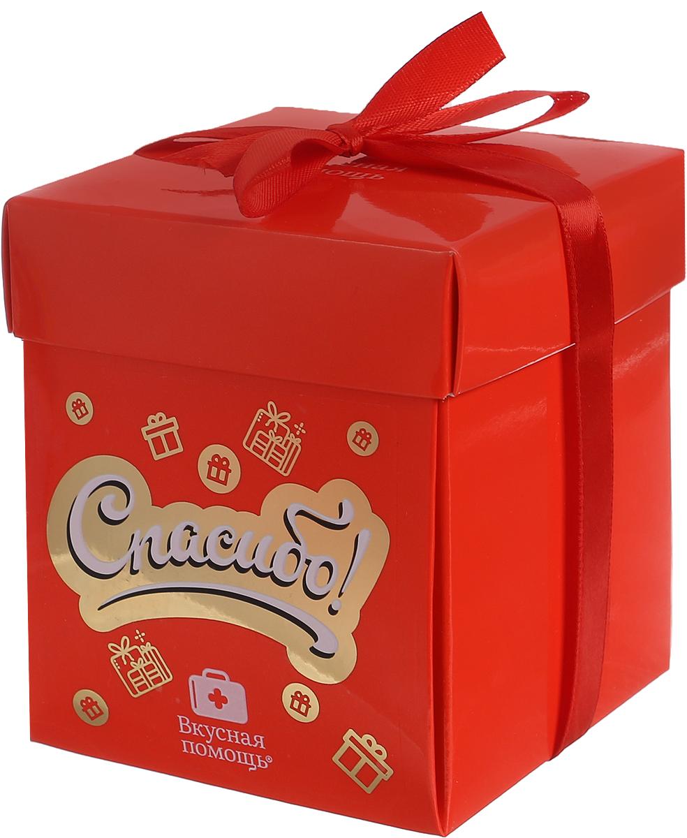 Конфеты Вкусная помощь Спасибо, 125 г (цвет упаковки красный) славянка золотой степ конфеты 192 г