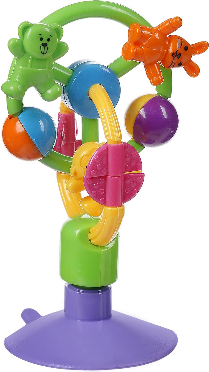 Погремушка-карусель Mioshi Зверюшки на Карусели цвет фиолетовый зеленый желтый eichholtz изогнутый торшер eichholtz floor lamp medea 108082