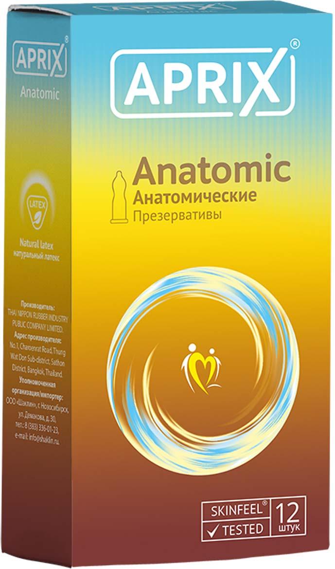 Aprix Презервативы Anatomic анатомические №12 jissbon мужские презервативы тонкие 52 40 шт секс игрушки для взрослых