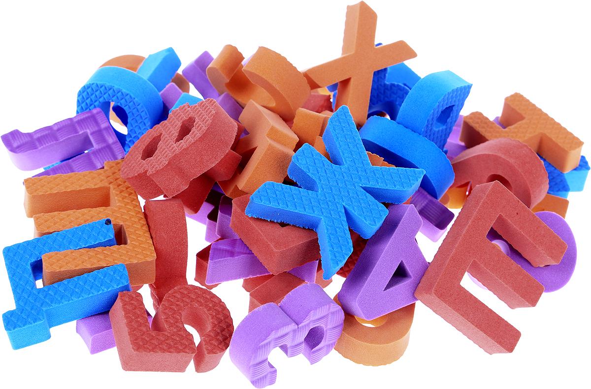 Pic'nMix Набор игрушек для ванной Буквы-цифры цвет красный оранжевый синий фиолетовый lubby набор игрушек для ванной морской мир 4 шт