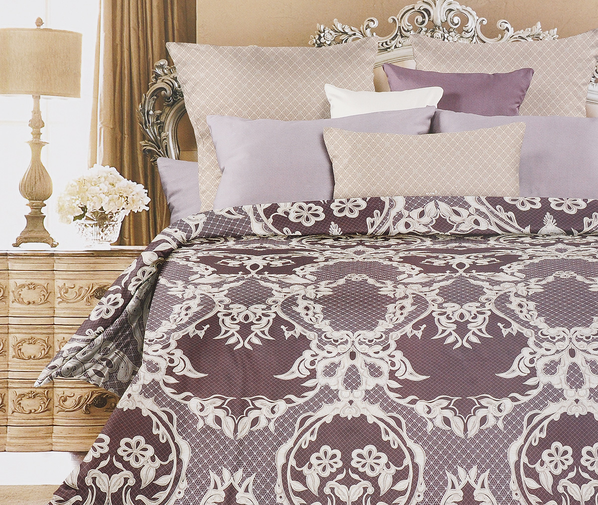 Комплект постельного белья Унисон Баронесса, 2-спальный, наволочки 70х70