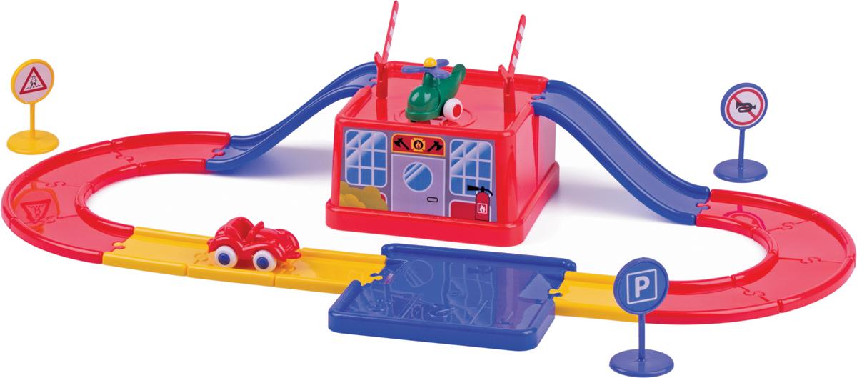 Viking Toys Игровой набор Viking City Bucket House с набором дороги и машинками viking