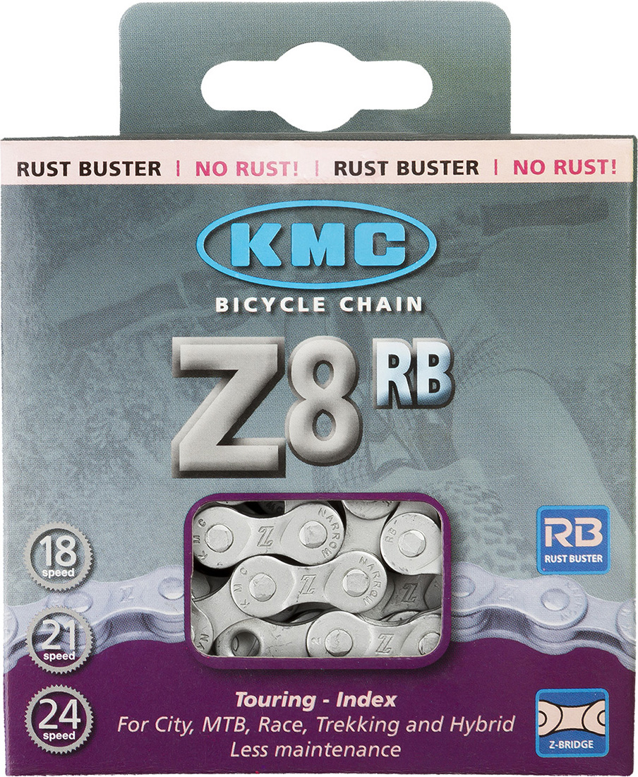 Цепь велосипедная КМС, Z 51 RB, 7.1 мм, 1/2x3/32, 116 звеньев, для Alivio/Acera/Altus, silver, с замком велосипедная цепь kmc 6 051 z51 18 21 скорости 116 звеньев