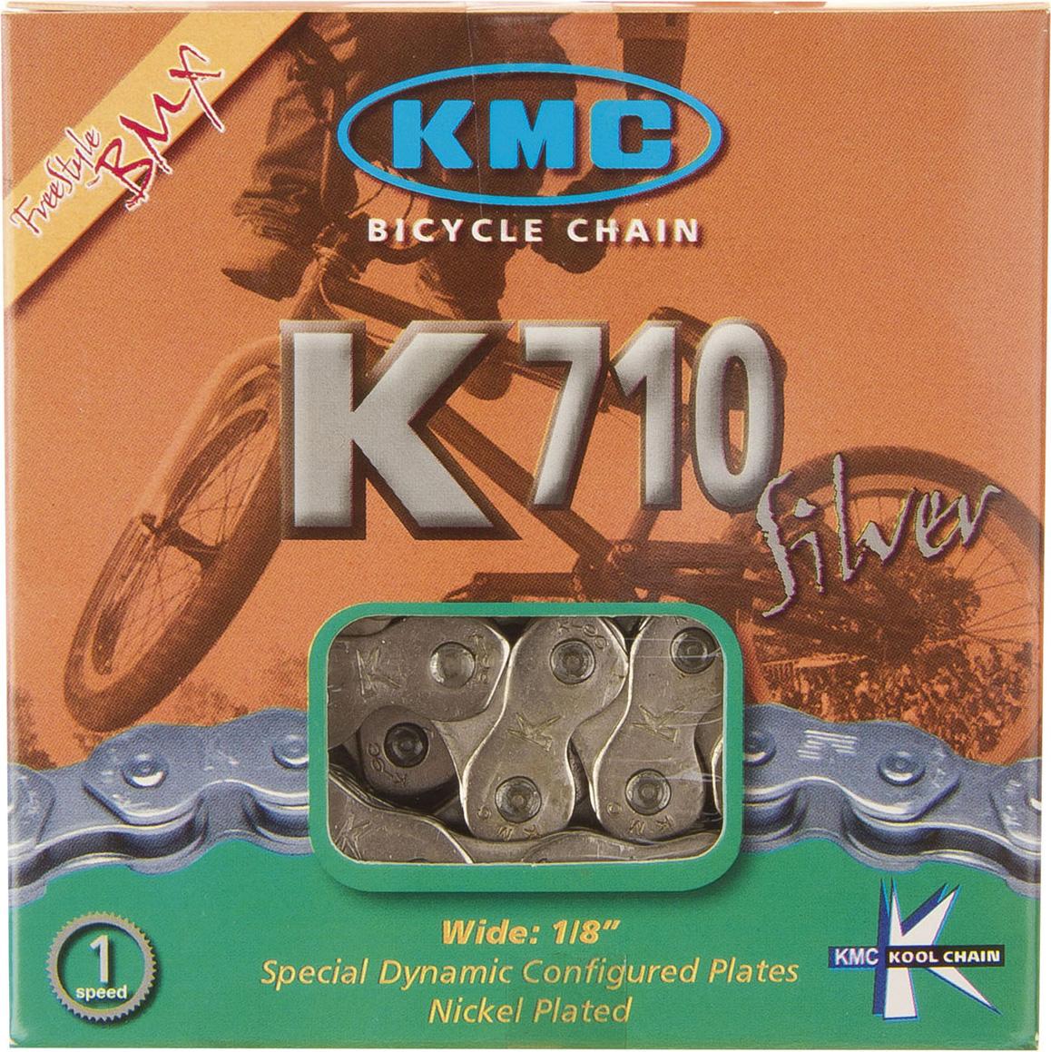 Цепь велосипедная КМС, K710, 9, 4 м, 1/2x1/8, для BMX велосипедная цепь кмс x8 8 скоростей 1 2x3 32х116 точное переключение высокопрчные пины x8